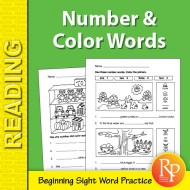 Color & Number Sight Word Activities (eBook)