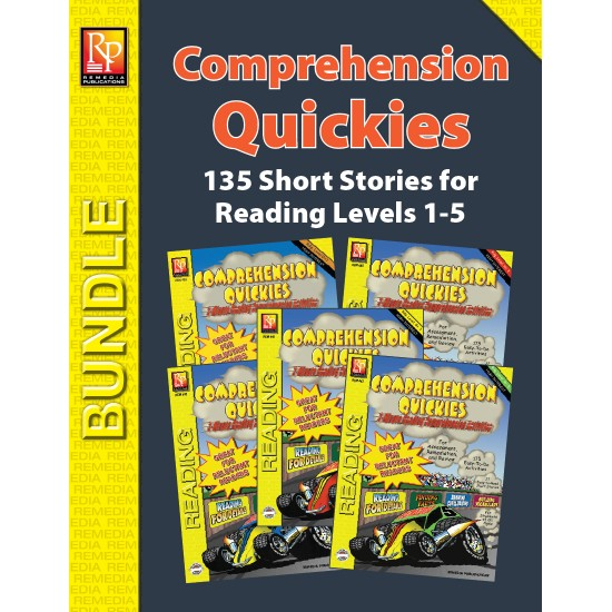 Comprehension Quickies - Reading Level 1-5 (Bundle)