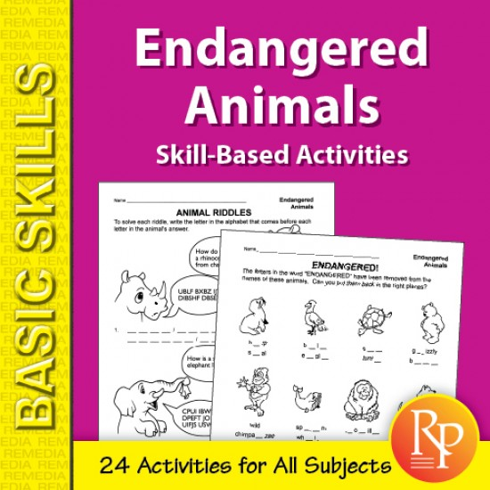 Endangered Animals: Skill-Based Activities for Grades 3-4 (eBook)