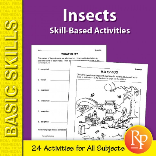 Insects: Skill-Based Activities for Grades 3-4 (eBook)