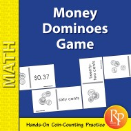 Money Dominoes Game: Coins & Currency Practice