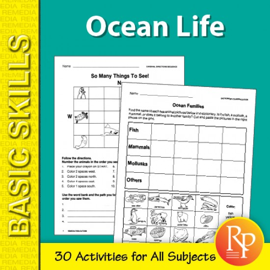 Ocean Life 1: Thematic Unit for All Subjects (eBook)