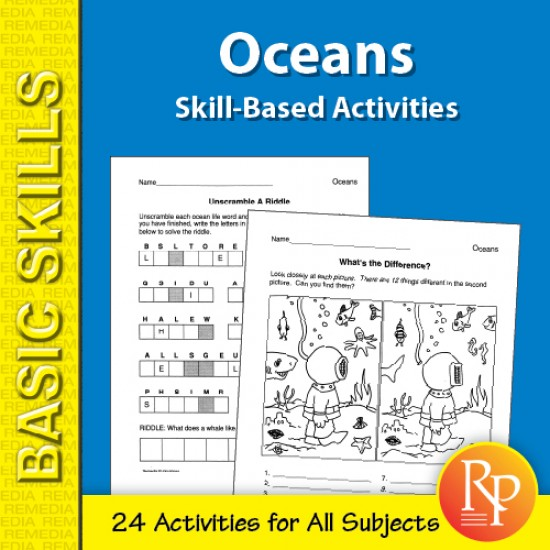 Oceans: Skill-Based Activities for Grades 3-4 (eBook)
