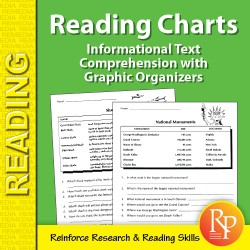 Informational Text Comprehension with Graphic Organizers: Reading Charts 1 (eBook)
