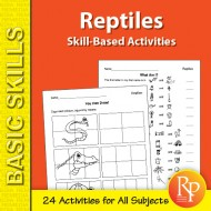 Reptiles: Skill-Based Activities for Grades 3-4 (eBook)