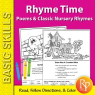 Rhyme Time 1: Poems & Classic Nursery Rhymes Coloring Activities (eBook)