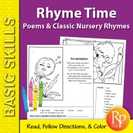 Rhyme Time 2: Poems & Classic Nursery Rhymes Coloring Activities (eBook)