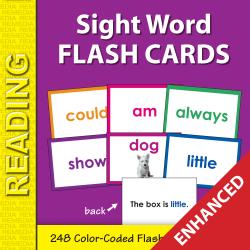 Sight Words Flash Cards (Enhanced)