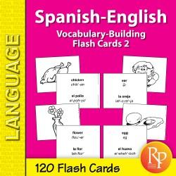 Spanish-English Vocabulary-Building Flash Cards 2 (eBook)