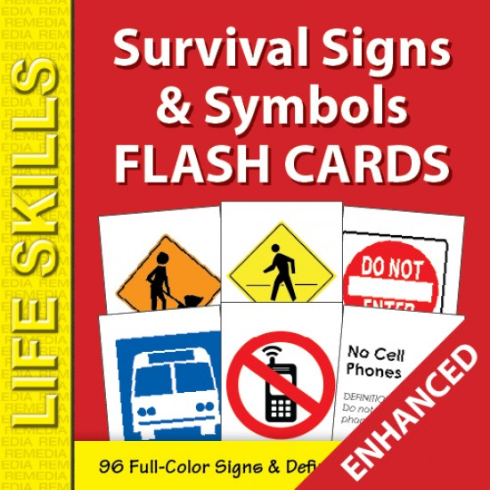 Survival Signs & Symbols Flash Cards (Enhanced)