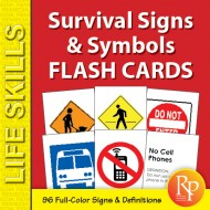 Survival Signs & Symbols Flash Cards