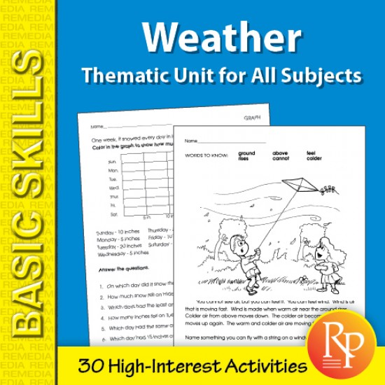 Weather: Thematic Skill-Builder Unit for All Subjects (eBook)