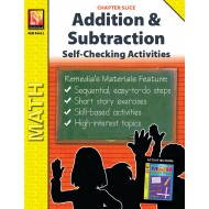 Self-Checking Activities for Addition & Subtraction (Chapter Slice)