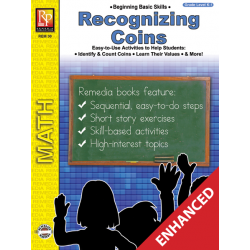 Recognizing Coins: Beginning Basic Skills (Enhanced eBook)