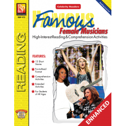 Celebrity Readers: Famous Female Musicians (Enhanced eBook)