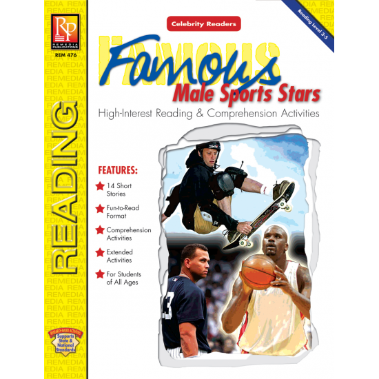 Celebrity Readers: Famous Male Sports Stars (eBook)