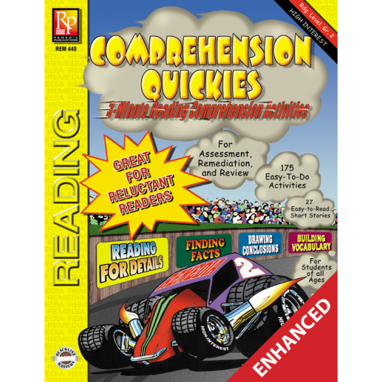 Comprehension Quickies - Reading Level 2 (Enhanced eBook)