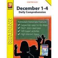 December 1-4: Daily Comprehension (Chapter Slice)