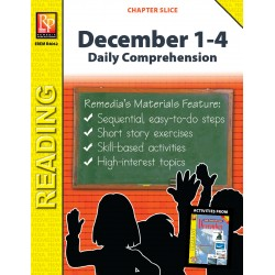 December 1-4: Daily Comprehension (Chapter Slice)