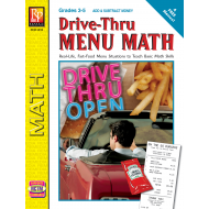 Drive-Thru Menu Math: Add & Subtract Money (eBook)