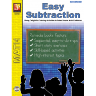 Easy Subtraction Coloring Fun (eBook)