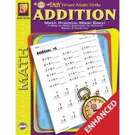 Addition: Easy Timed Math Drills (Enhanced eBook)