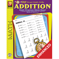Addition: Easy Timed Math Drills (Enhanced eBook)