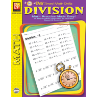 Division: Easy Timed Math Drills (eBook)