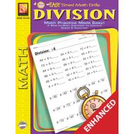 Division: Easy Timed Math Drills (Enhanced eBook)