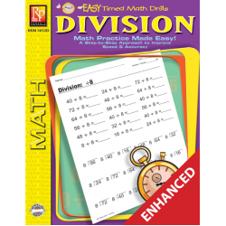 Division: Easy Timed Math Drills (Enhanced eBook)