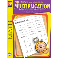 Multiplication: Easy Timed Math Drills (eBook)