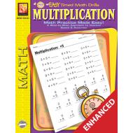 Multiplication: Easy Timed Math Drills (Enhanced eBook)