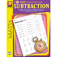 Subtraction: Easy Timed Math Drills (eBook)