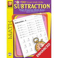 Subtraction: Easy Timed Math Drills (Enhanced eBook)