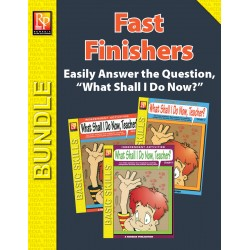 What Shall I Do Now, Teacher? Activities for Fast Finishers (Bundle)