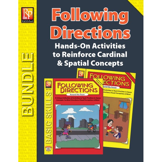 Following Cardinal & Spatial Directions Around the House & Town (Bundle)