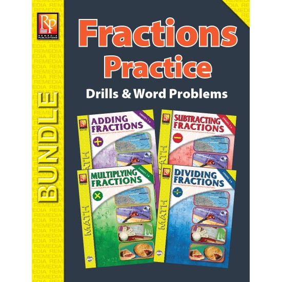 Fractions Practice for Addition, Subtraction, Multiplication, Division (Bundle)