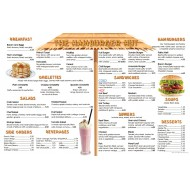 The Hamburger Hut (Menu Only)