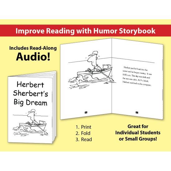Herbert Sherbert's Big Dream: Improve Reading with Humor Storybook & Read-Along Audio
