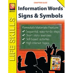 Information Words Unit: Survival Signs & Symbols Vocabulary (Chapter Slice)