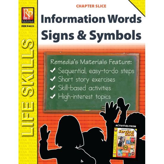 Information Words Unit: Survival Signs & Symbols Vocabulary (Chapter Slice)