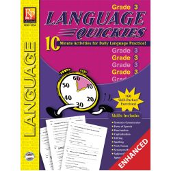 Language Quickies - Grade 3 (Enhanced eBook)