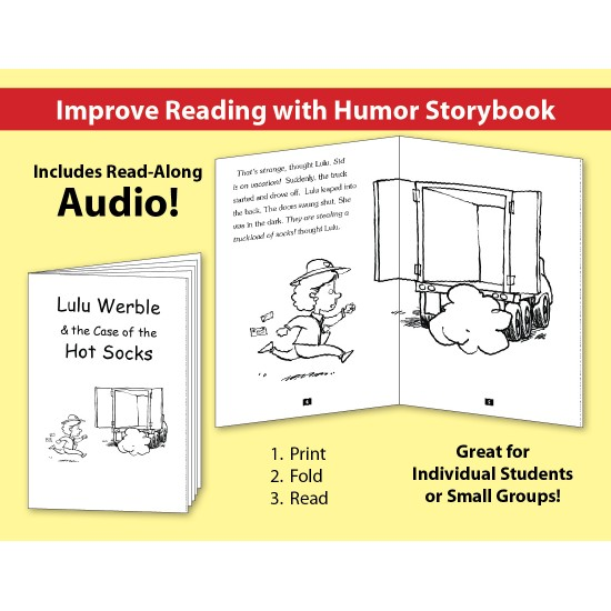 LuLu Werble & The Case of the The Hot Socks: Improve Reading with Humor Storybook & Read-Along Audio