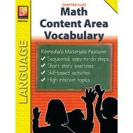 Math: Content Area Vocabulary (Chapter Slice)