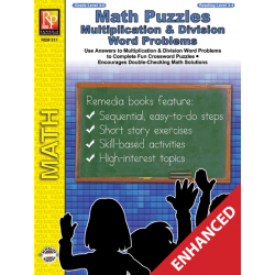 Math Puzzles: Multiplication & Division Word Problems (Enhanced eBook)