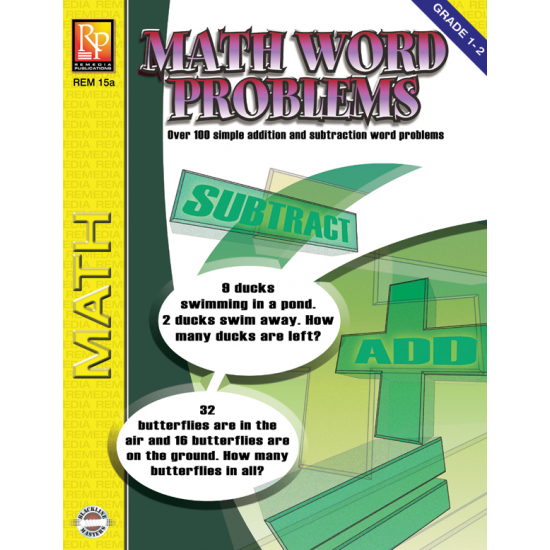 Math Word Problems for Grades 1-2 (eBook)