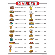 Menu Math for Beginners (Menu Only)