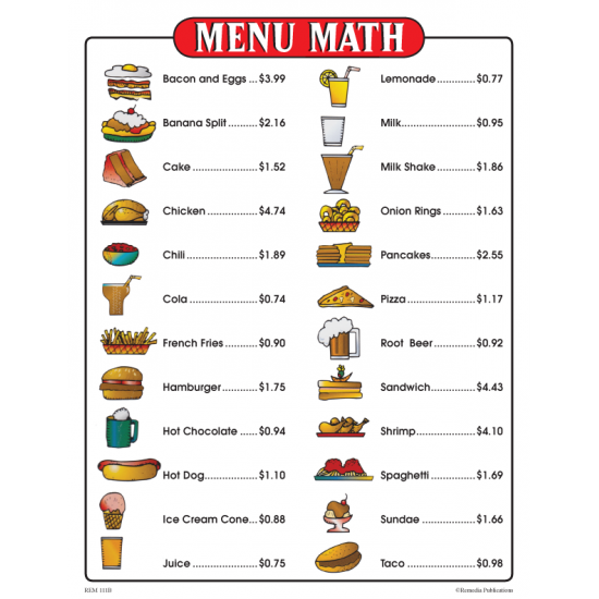 Menu Math for Beginners (eBook)