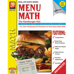 Menu Math: The Hamburger Hut +, - (Enhanced eBook)