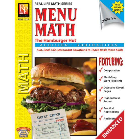 Menu Math: The Hamburger Hut +, - (Enhanced eBook)